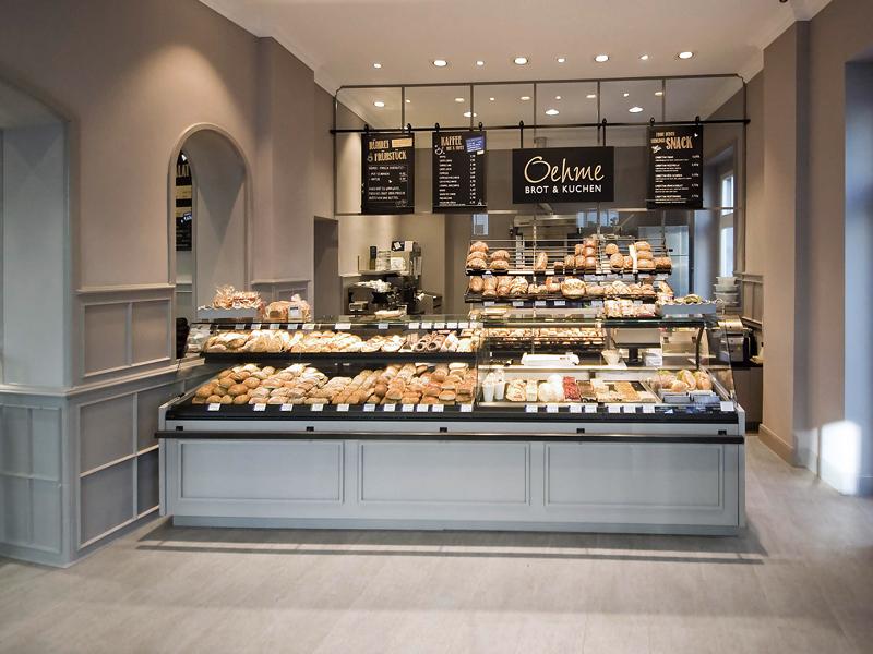 Ladenbau Bäckerei & Café Oehme – antik und modern
